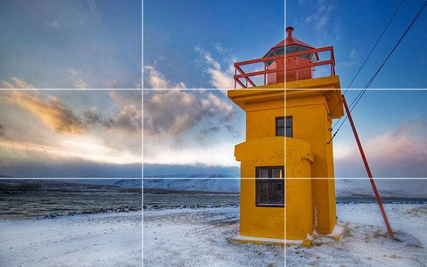 ترکیببندی عکس با قانون یکسوم