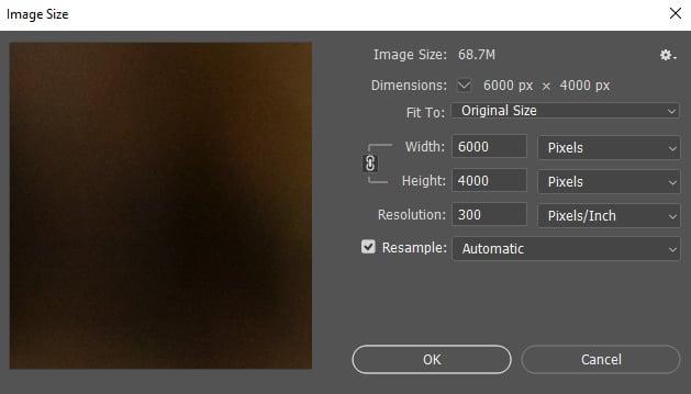 تغییر ابعاد عکس در فتوشاپ