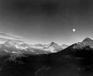 Autumn Moon, the High Sierra from Glacier Point, Yosemite National Park, California, 1948