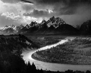 The Tetons and the Snake River, Grand Teton National Park, Wyoming, 1942