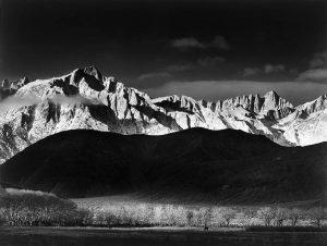 Winter Sunrise, Sierra Nevada from Lone Pine, California, 1944